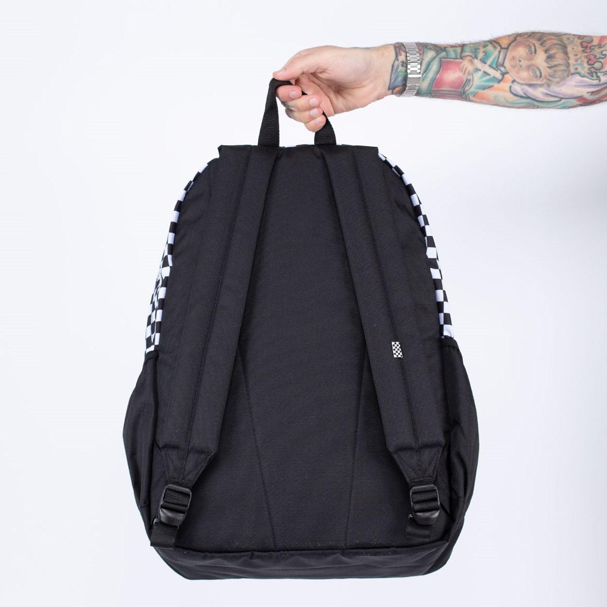 Mochila Vans WM Sporty Realm Plus Backpack Black Sport Stripe VN0A3PBIV45