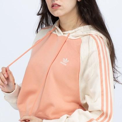 Moletom Adidas Capuz Cropped Adicolor Classics Collegiate Ambient Blush Wonder White H37831