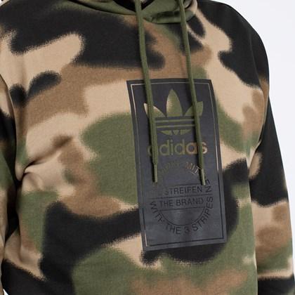 Moletom adidas Capuz Estampada Camo Wild Pine Black GN1879