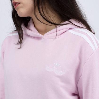 Moletom adidas Capuz Smocked Cuff Clear Pink H17954