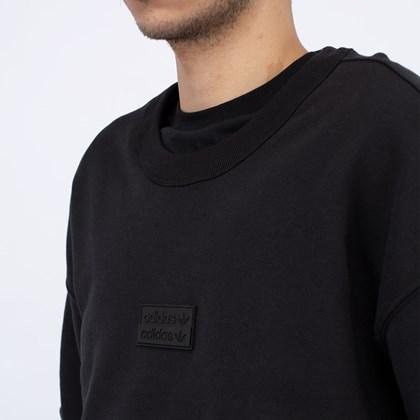 Moletom adidas Crew RYV Silicone Double Linear Badge Black GN3293