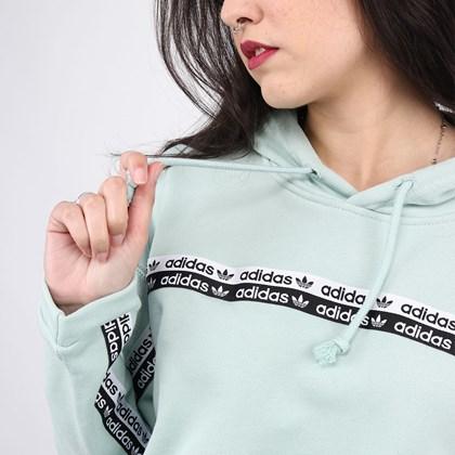 Moletom Adidas Cropped Feminino Capuz Hoodie Green FM2515