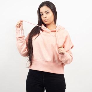 Moletom Adidas Feminino Cropped Coeeze Hoodie Capuz Rosa DU2353