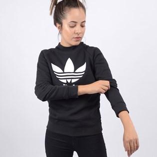 Moletom Adidas Feminino Gola Careca TRF Crew Sweat Preto DV2612