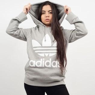 Moletom Adidas Feminino Trefoil Hoodie Capuz Cinza CY6665