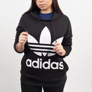 Moletom Adidas Feminino Trefoil Hoodie Capuz Preto CE2408