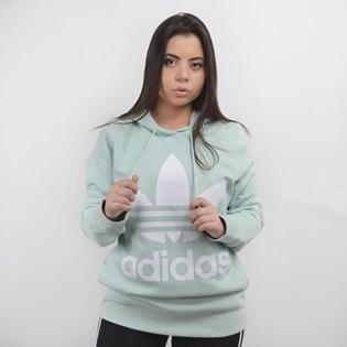 Moletom Adidas Feminino Trefoil Hoodie Verde Claro ED7503