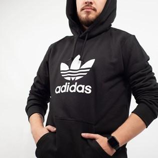 Moletom Adidas Masculina Trefoil Hoodie Capuz Preto DT7964