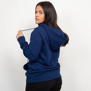 Moletom Adidas Trefoil Hoodie Capuz Azul Marinho DV2568