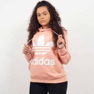 Moletom Adidas Trefoil Hoodie Capuz Rosa DV2560