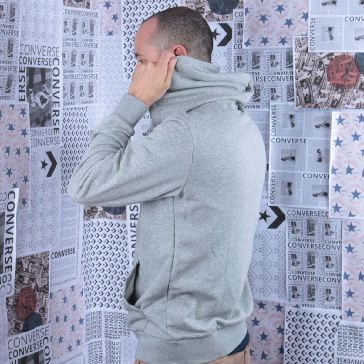 Moletom Converse Capuz Nova FZ Hoodie FT Grey Heather 10018229-A01