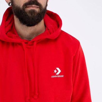 Moletom Converse Capuz Star Chevron Embroidered Red 10008926-A11
