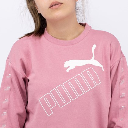Moletom Puma Amplified Crew TR Foxglove 583611-16
