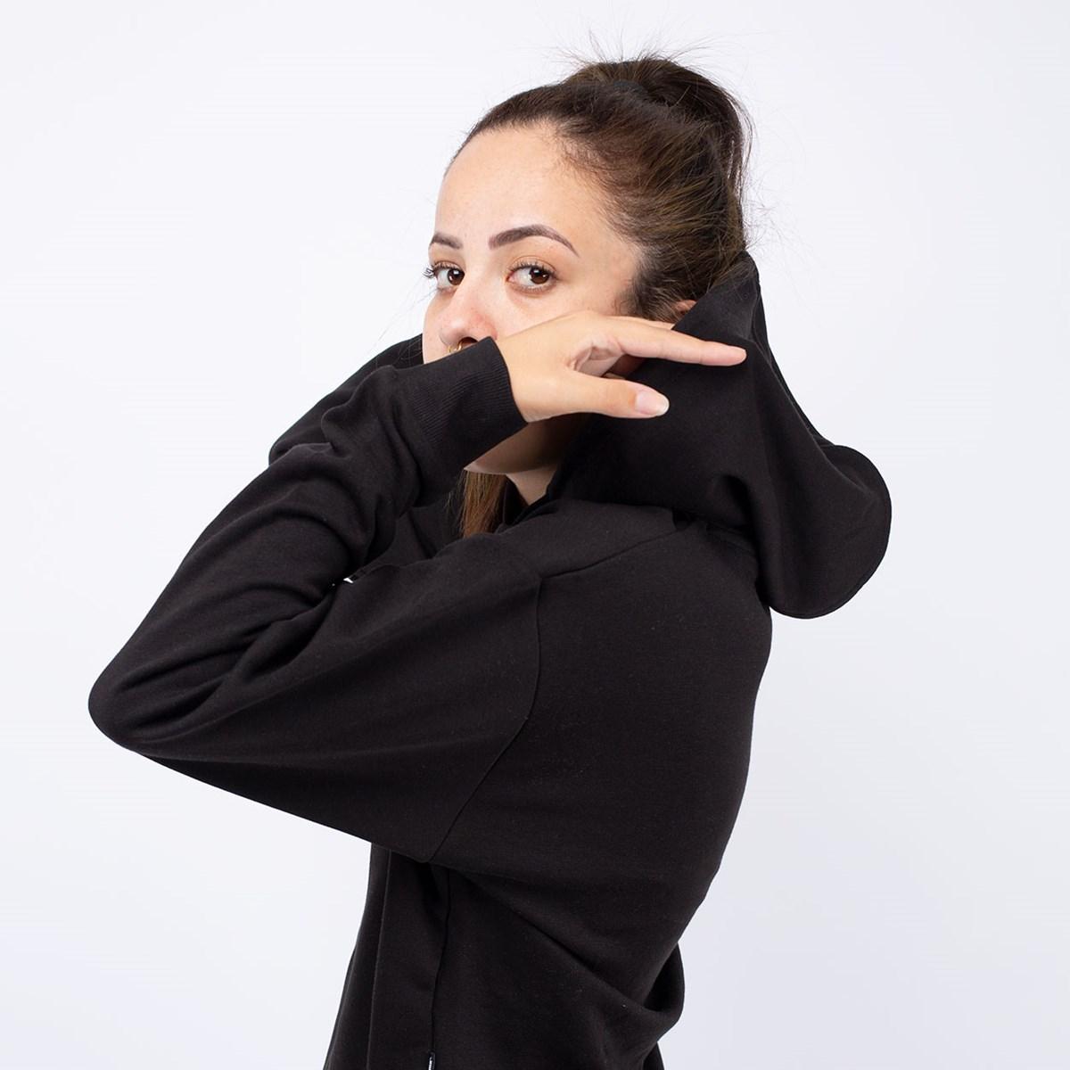 Moletom Puma Cropped ESS+ Metallic Hoody TR Black 58241156