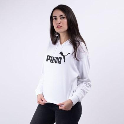 Moletom Puma Feminino Capuz Essentials+ Cropped Hoody White 85468502