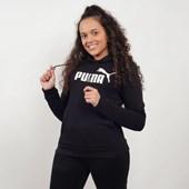 Moletom Puma Feminino Capuz Essentials Fleece Hoody Preto 85179701