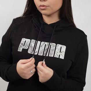 Moletom Puma Feminino Capuz Graphic Hoody Preto 85467123