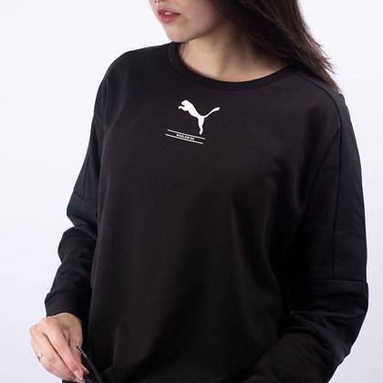 Moletom Puma Feminino Nu-Tility Crew Sweat Black 58137801