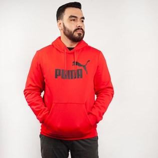Moletom Puma Masculino Capuz ESS Hoody FL Big Logo Vermelho 85174305