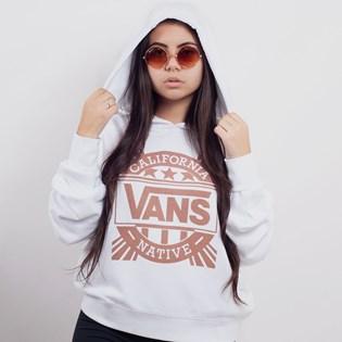 Moletom Vans Capuz Cali Native Hoodie White VN0A3UPEWHT