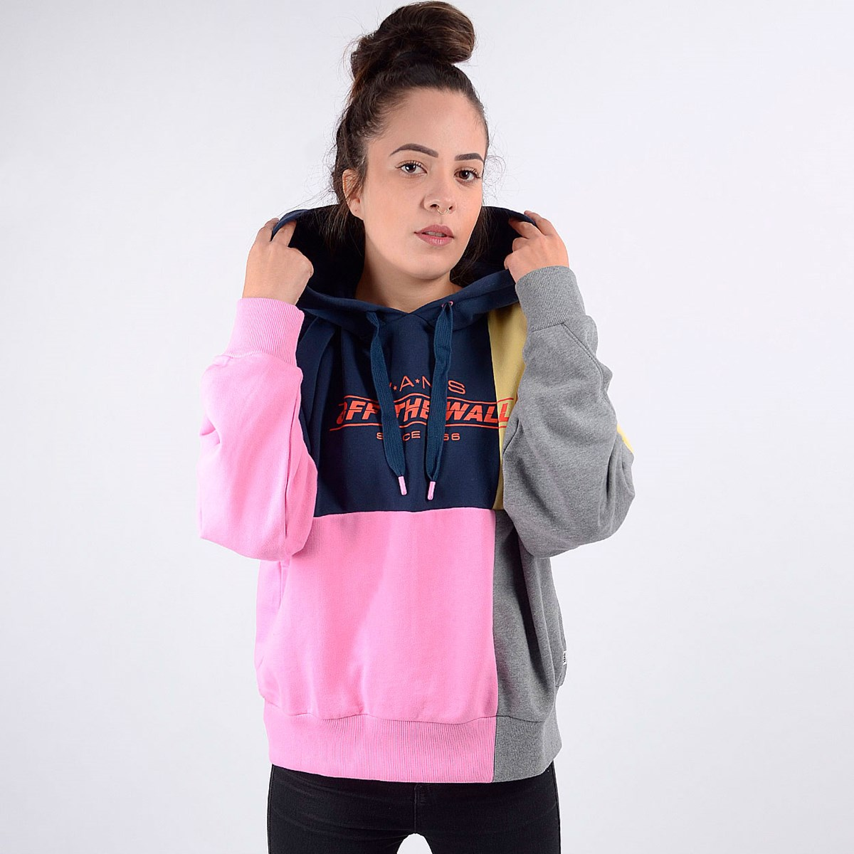 Moletom Vans Feminino Capuz Check Piece Hoodie Dress Blues VN0A4DQMVDJ