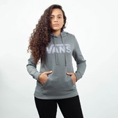 Moletom Vans Feminino Capuz Flying V Classic Hoodie Grey Heather VNBA3UMPGRH Grey Heather