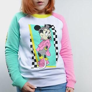 Moletom Vans Hyper Minnie Crew Disney White VN0A3UHPWHT