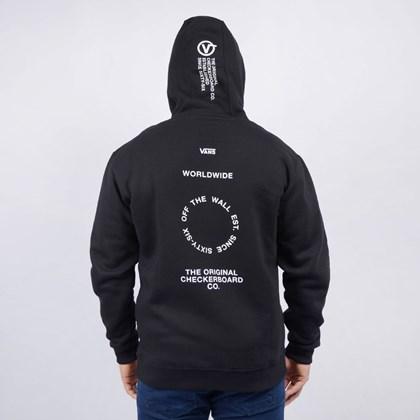 Moletom Vans Masculino Capuz MN Distort Type Po Black VN0A49SOBLK