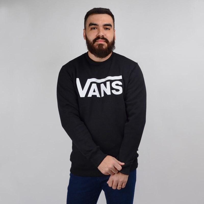 Moletom Vans Masculino Gola Careca Classic Crew Black VN000YX0BLK