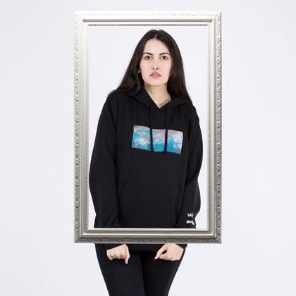 Moletom Vans MoMA Claude Monet Capuz Fleece Black VN0A4SC218H