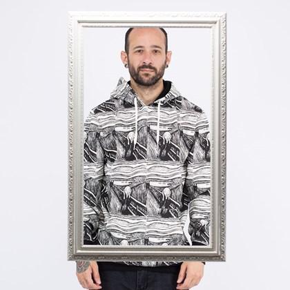 Moletom Vans MoMA Edvard Munch Capuz Po Black White VN0A4RQC1UB
