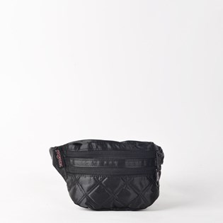 Pochete JanSport Hippyland Black Satin Diamond Quilting 2SDF60A