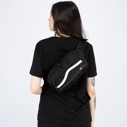 Pochete Vans Construct Cross Body Black White VN0A4RWYY28