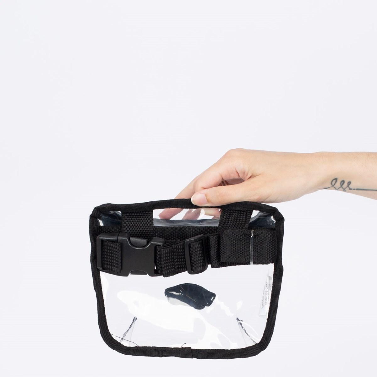Pochete Vans In The Clear Belt Bag Black VN0A5DPOBLK