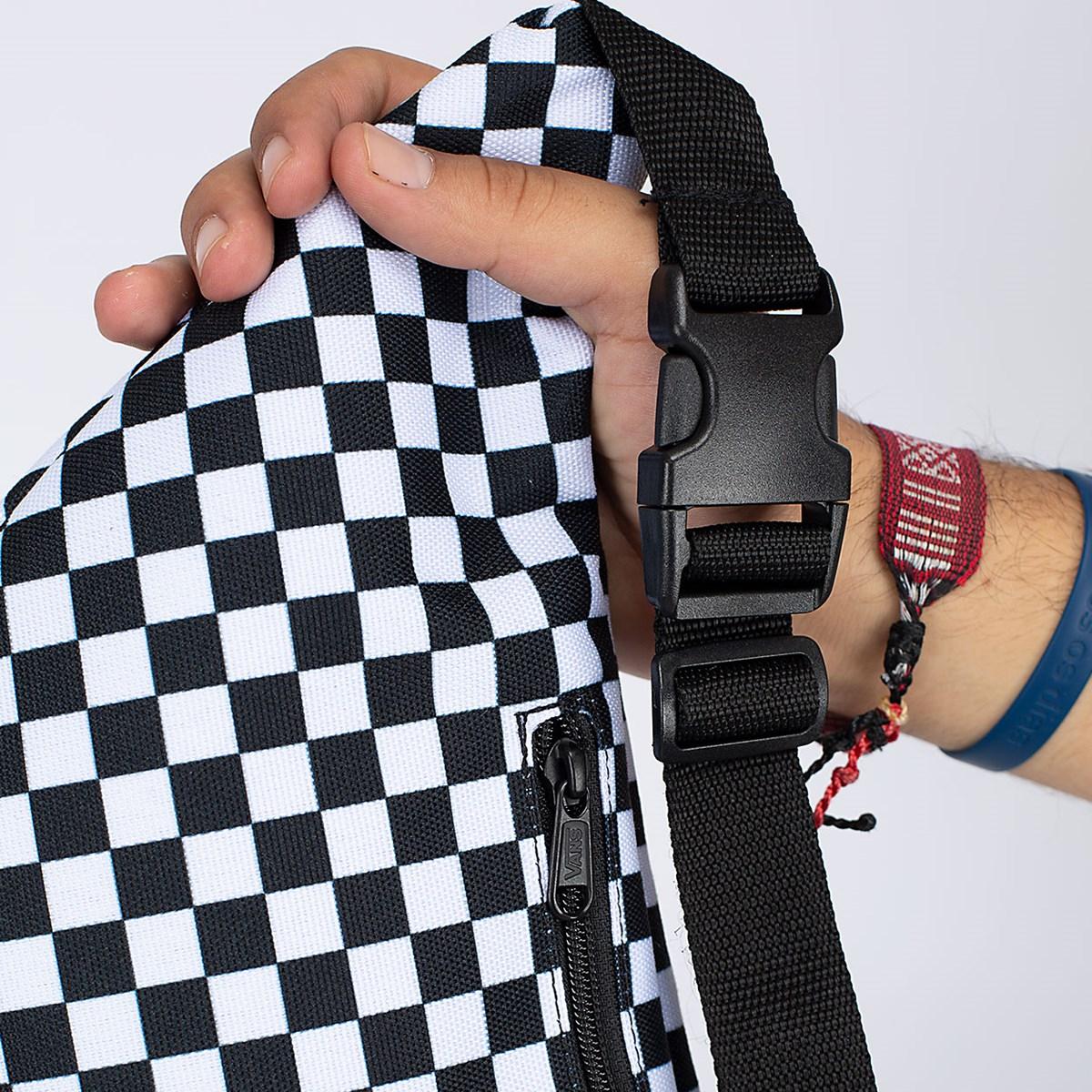 Pochete Vans Ranger Waist Pack Black White Checkerboard VN0A3NG756M