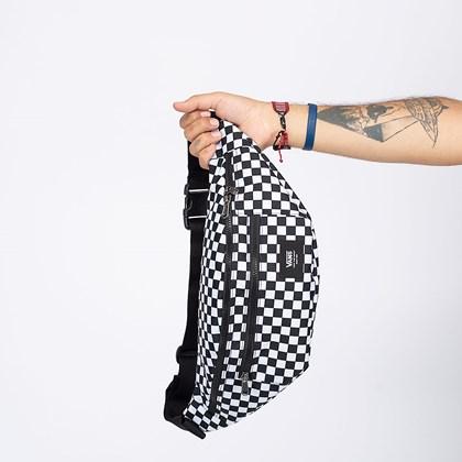 Pochete Vans Ward Cross Body Pack Black White Checkerboard VN0A2ZXXHU0