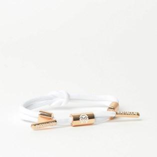 Pulseira Rastaclat Feminina Miniknot Lily II White Rose Gold RCW025LILY