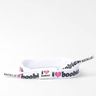 Pulseira Rastaclat Unissex I Love Boobies White Pink RC048BWT