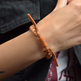 Pulseira Rastaclat Unissex Miniclat Classic Solid Cider Brown RCW001CDR