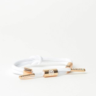 Pulseira Rastaclat Unissex Miniknot Lily II White Rose Gold RCW025LILY