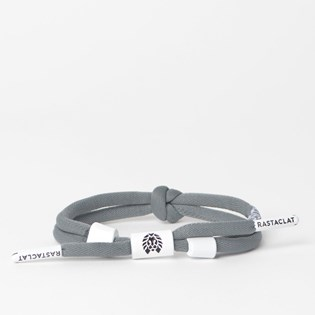 Pulseira Rastaclat Unissex Positive Vibes Knotted Lace Grey White RC025PVGY