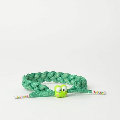 Pulseira Rastaclat Unissex Sanrio Keroppi Green White RC001KPGR