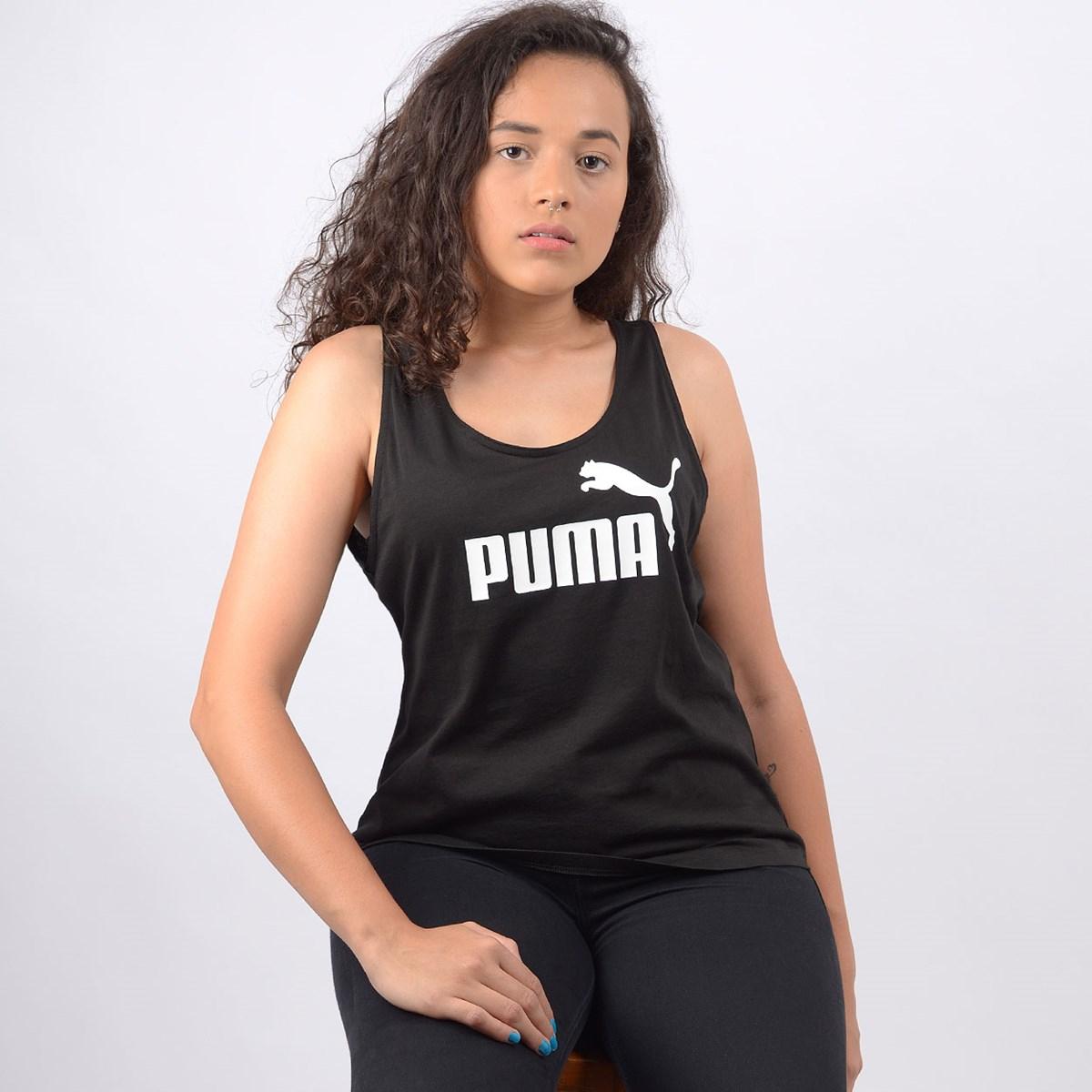 Regata Puma Feminina Essentials Tank Preto 85178501