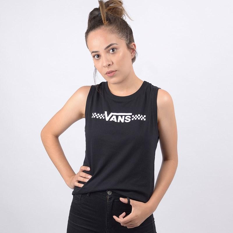 Regata Vans Feminina Funnier Times Black VN0A4BSLBLK