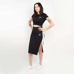 Saia Puma Classics Rib Skirt Preto 57805801