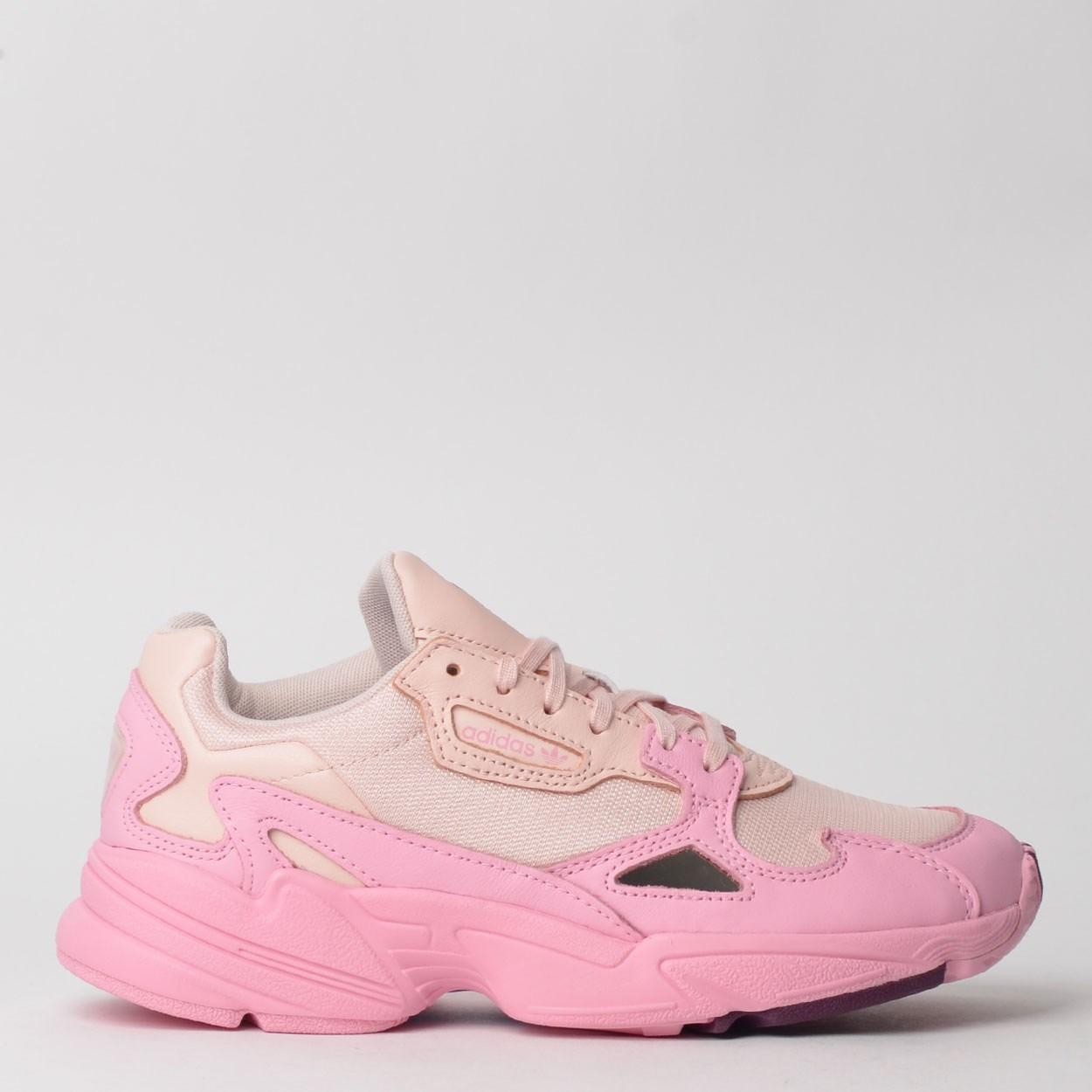 adidas falcon rosa e branco