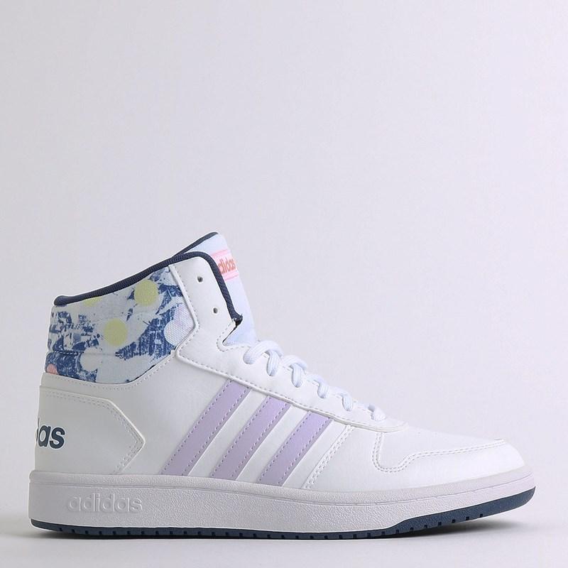 Tênis Adidas Hoops Mid 2.0 K White EG1990