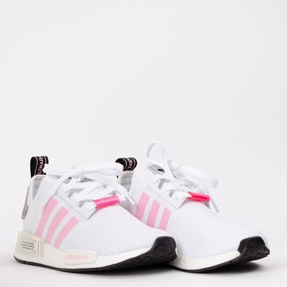 Tênis adidas NMD_R1 Cloud White True Pink  FZ3777