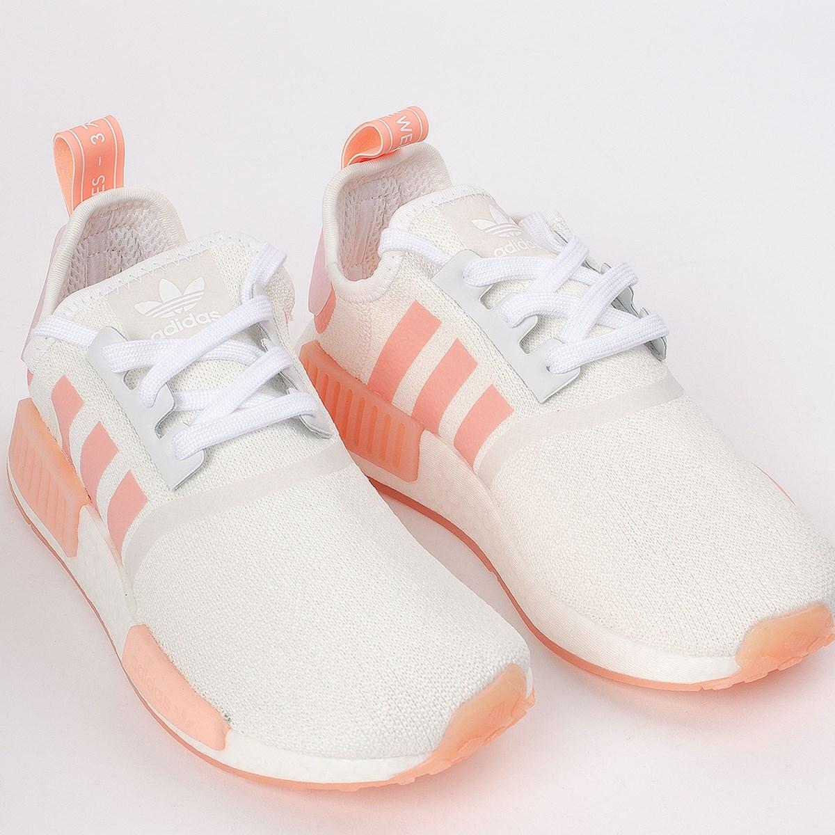 Tênis adidas NMD_R1 Ftwr White Haze Coral FV8730