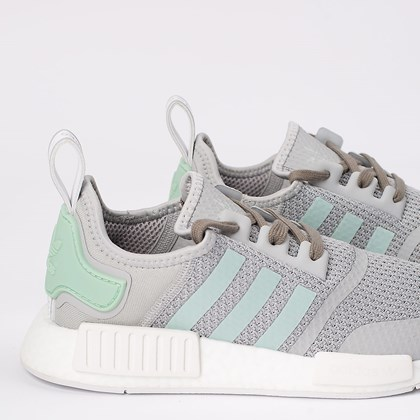 Tênis adidas NMD_R1 Grey Two Blush Green FV9152